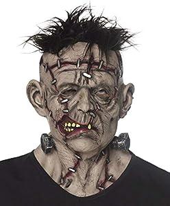 Boland 97567látex cabeza máscara Mr Scar, unisex-Adultos, Gris/Negro