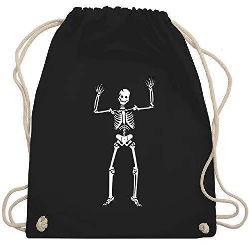 Halloween - Skelett Skeleton - Unisize - Schwarz - WM110 - Turnbeutel & Gym Bag