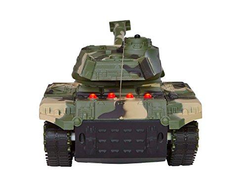 Revell Control 24224 - RC Panzer Set, Battle Game POWER TRACKS, 2 RC Panzer mit Infrarot-Schussfunktion, Soundmodul, Rückstoßeffekt, Mündungsfeuer-LED, Kettenlaufwerk mit Gummikette, MHz - 6