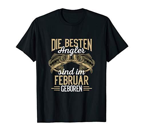 Besten Angler sind im Februar geboren Angler Geburtstags T-Shirt