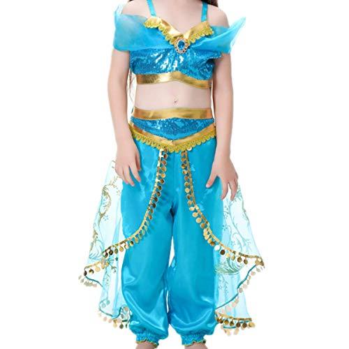 LOBTY Mädchen Kostüm Prinzessin Kleid Kostüme Eiskönigin Prinzessin -