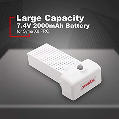 LoveOlvido Large Capacity RC Drone RC Quadcopter 7.4V 2000mAh Battery Ultra-high Capacity Lipo for Syma X8 PRO Battery Spare Parts