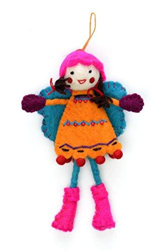 Feutre Alpine Girl - Robe Orange (env. 220 mm Longueur)