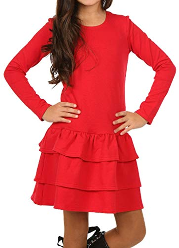 e997603124 Dykmod Mädchen Kleid Falten Langarm Herbst Winter hk249 gebraucht kaufen  Wird an jeden Ort in Deutschland