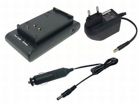 PowerSmart® 230V AC (Input), 12V-1A (Output) Ladegerät Netzteil + Kfz-Anschlusskabel für Sharp VL-E VL-H VL-HL VL-MX VL-N Serien BT-70, BT-70BK, BT-80, BT-80BK, BT-80SBK, BT-BH70, VR-BH70 -