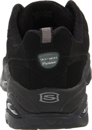 Skechers Sport Women's Premium-Nubuck Sneaker,Black Nubuck, 5.5 M US Black nubuck
