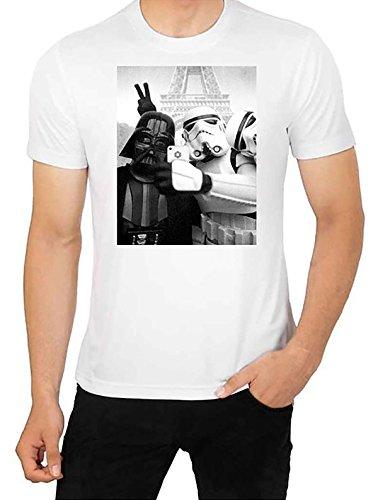 Star Wars Selfie T Shirt Funny Parodie auf Darth Vader vs Stormtrooper Top Herren Hohe Qualität T Shirt (XXL) (Hohe T-shirt Qualität)