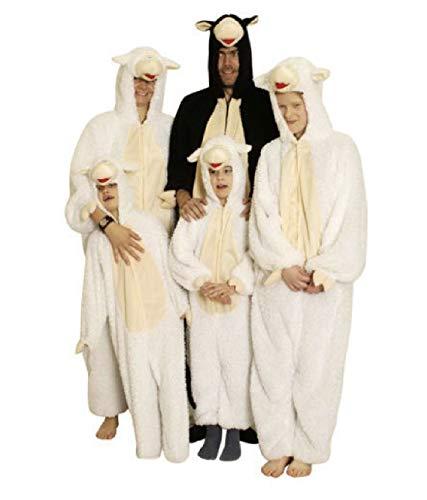 Jungen Für Kostüm Schaf - narrenkiste K312508-98-104 weiß-Creme Mädchen Junge Kinder Schafs Kostüm-Overall Gr.98-104