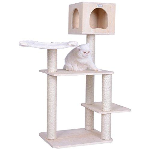 Arbre à chat-arbre à chat en bois véritable