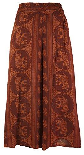 Guru-Shop Palazzohose, Offene Sommerhose, Damen, Viskose, Size:38, Lange Hosen Alternative Bekleidung Orange