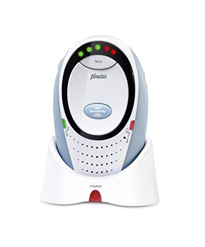 Alecto DBX-85 ECO, Digitales Audio Eco Dect Babyphone (100% störungsfrei, Gegensprechanlage, Weiß)