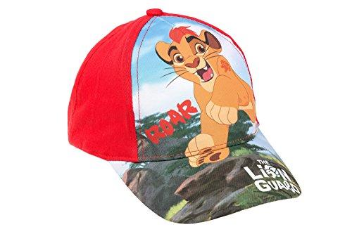 Disney König der Löwen Baseball Cap für Kinder, original Lizenzware, rot, Gr. 52