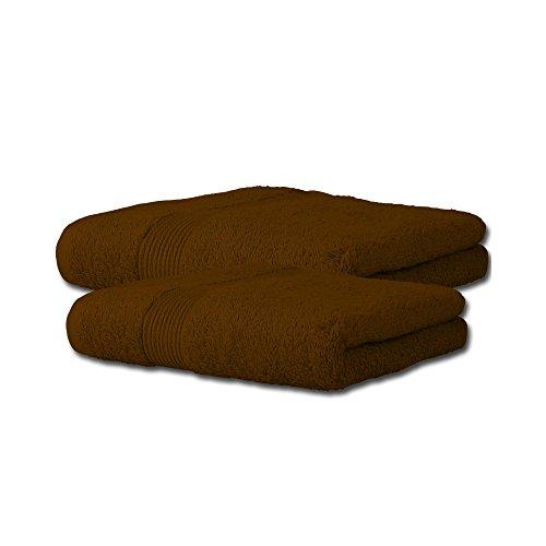 2 tlg. flauschiges Handtuch-Set | 13 moderne Farben und viele Größen | 100% Baumwolle Frottee Qualität ca. 500g/m² | 2-teilig | 1x Duschtuch 70 x 140 cm 1x Saunatuch 80 x 200 cm | Serie Bari | CelinaTex 0003118 | schoko-braun