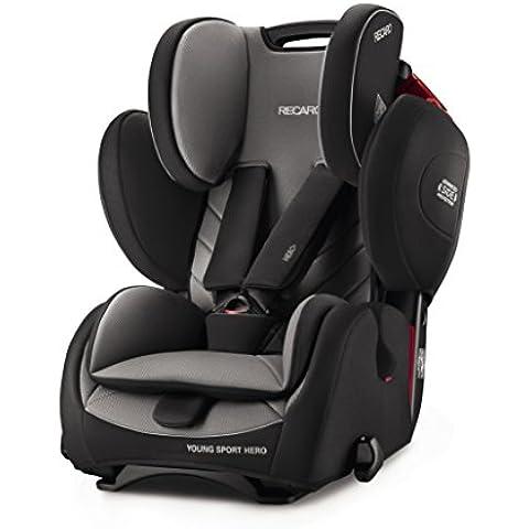 Recaro 6203.21502.66Asiento Infantil para coche Young Sport Hero, carbon negro