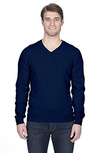 State fusio uomo cashmere lana pullover a manica lunga con collo a v