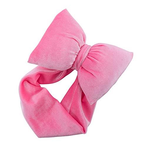 Baby-Haarreif für Mädchen, kleines Kopfband aus Samt, mit Schleife, für Babys und Kleinkinder, weiches Hairband, für Babys, Turbante und Haare Free Rote Melone (Chiffon Samt Kostüm)