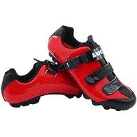 LUCK Zapatillas de Ciclismo MTB ODÍN con Suela de Carbono y Cierre milimétrico de precisión. (41 EU, Rojo)