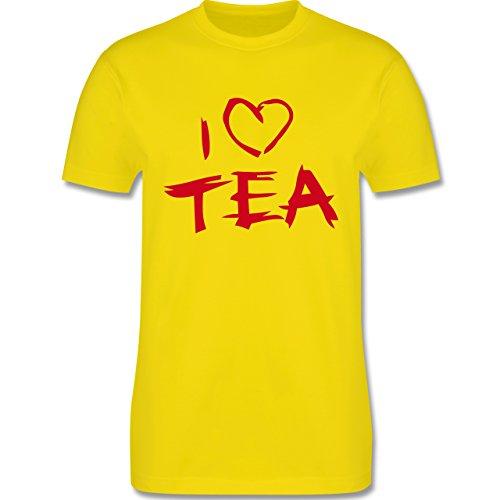 Küche - I Love Tea - Herren Premium T-Shirt Lemon Gelb