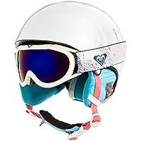 Roxy Misty Girl PCK G HLMT WBB9 Helmet, Niñas, Bright White_Animals Party, 54