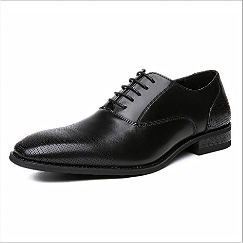 NIUMJ Britische Schuhe Lederschuhe Für Herren Mode Trend Schuhe Bequem Tragbar Atmungsaktiv Spitze Satz Schuhe