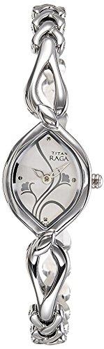 Titan Raga Analog White Dial Women's Watch - NE2455SM01