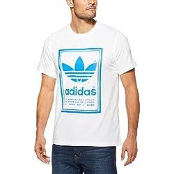 adidas DJ2716 Vintage–Camiseta de hombre, Blanco, Talla M
