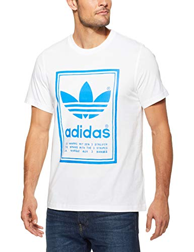 Adidas vintage, t-shirt uomo, bianco, xxl
