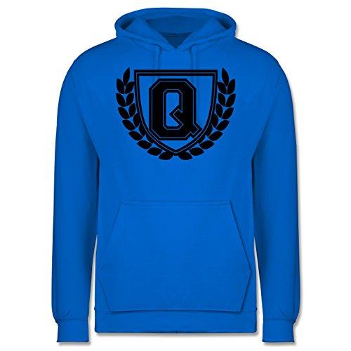 Anfangsbuchstaben - Q Collegestyle - Männer Premium Kapuzenpullover / Hoodie Himmelblau