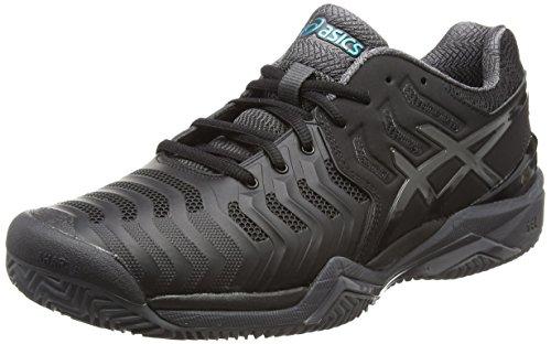 Asics Gel-resolution 7 Clay, Zapatos De Hombre Negros (negro / Gris Oscuro / Lapislázuli)