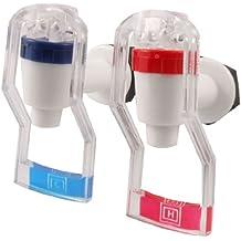 2 piezas de plástico de recambio dispensador de agua para grifo mango de empuje blanco rojo