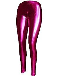 Mix lot neuer reizvoller metallisch glänzenden Leggings Damen feste dünne Phantasie langbeinige Partei-Vereinabnutzung Größe 36-42