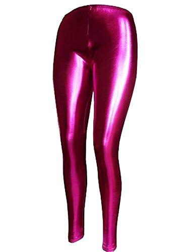 Mix lot neuer reizvoller metallisch glänzenden Leggings Damen feste dünne Phantasie langbeinige Partei-Vereinabnutzung Größe 36-42 (M/L...
