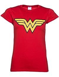 T shirt femme Wonder Woman Logo rouge