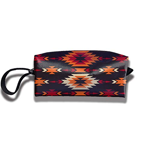 b5fe61c92003 Colorful Tribal Geometric Pattern Print Elegant Cosmetic Pouch Bag Storage  Jewelry Pouch Travel Makeup Bag Pouch with Zipper