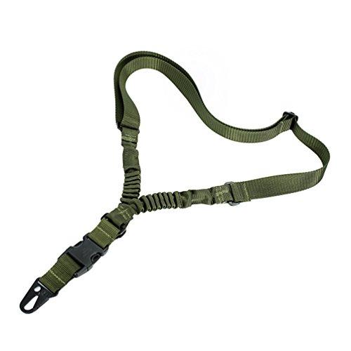 Oleader 1Punkt Gewehr Sling Multi Gun Gurt Verstellbare Schulter Seil mit elastischer Kordel für Jagd Camping Outdoor Sport, grün (Waffe Schlinge)