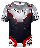 Unisex Camiseta Marvel Avengers Super Hero Quantum Realm 3D Vistoso Impresión T-Shirt(S)
