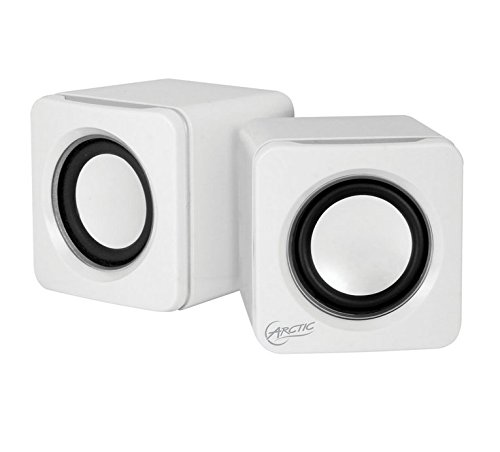 Arctic S111 M Mobile Mini - White - Altavoz portátil compatible con iPhone, Smartphone, color blanco