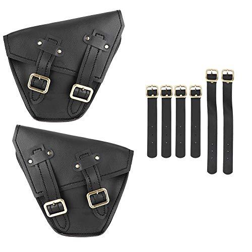 Outbit Motorrad Seitentasche - 1 Paar Links Rechts Motorrad Seitenspeicher Satteltasche Fit for Honda CMX 300 500 17-18 (Schwarz, Braun) (Farbe : Black)