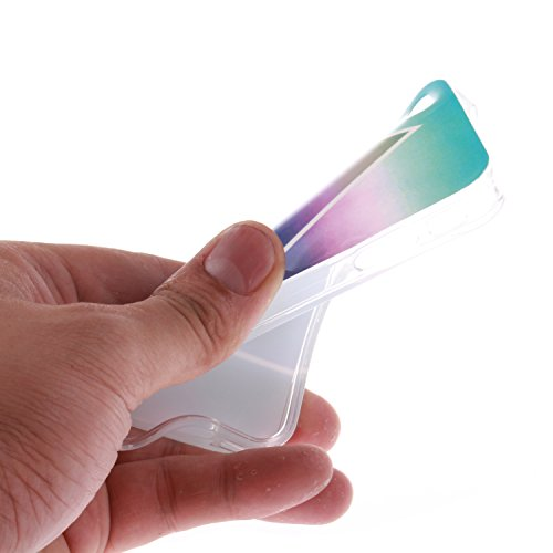 Apple iPhone 4/4S Hülle,Apple iPhone 4/4S Case, Cozy Hut TPU Silikon IMD Technologie Handy tasche Handycover Tasche Hülle Kunst Gemalt Backcover Schutzhülle Handyhülle Rückschale Etui Smart Skin Schut Triangle Wolken