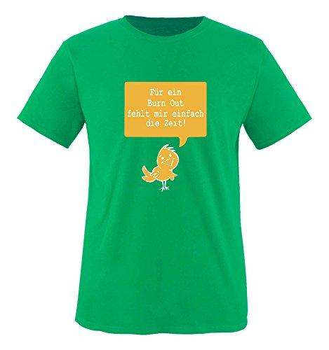 Comedy Shirts - Für ein Burnout fehlt mir einfach die Zeit! - Herren T-Shirt - Grün / Weiss-Gelb Gr. S (Grünes Türkei Die T-shirt)