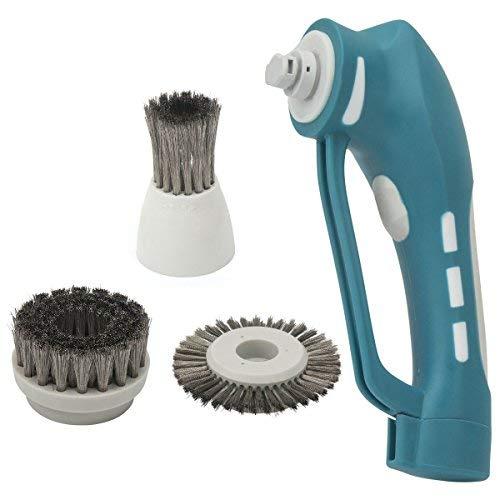 Elektrische Reinigungsbürste, Evertop Spin Scrubber, drahtlos, mit 3 einstellbar Bürstenköpfe, 360° multifunctional Bürste Schrubben, aufladbar, für Ecken, Badzimmer, Toilette, grill