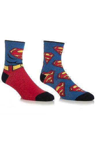 Herren 2 Paar SockShop DC Comics Superman Mix Socken Gemischt 6-11