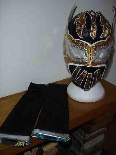 Wwe Kostüm Sin Cara - SIN CARA SCHWARZ KOSTÜM VERKLEIDEN OUTFIT MASK ÄRMEL ZAHNRAD-BÖSE HUNICO 2013 EXKLUSIV 1/100 STYLE WWE WRESTLING