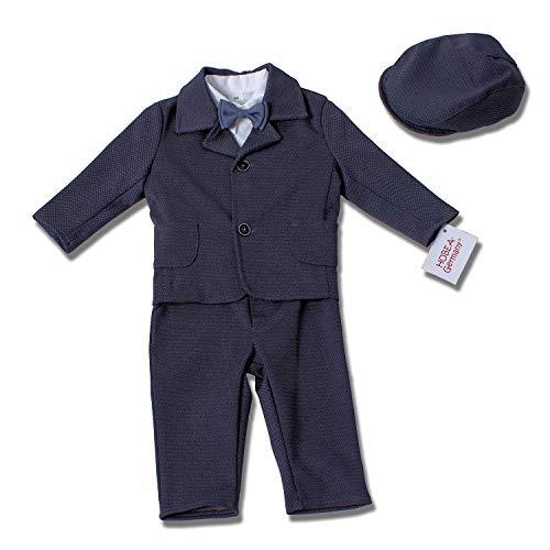 HOBEA-Germany Taufanzug Jungen, Taufkleidung Junge, Anzug Baby Junge für die Taufe für Babys und Kinder Design Elias, Größe 68