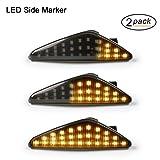 LED Dynamische LED Seitenblinker Blinker Gempro 2 X Bernstein 18 SMD mit Nicht-Polarität CAN-Bus-Fehlerfrei OE-Buchse Rauch Für E70 X5 E71 X6 F25 X3