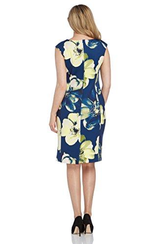 Roman Originals Damen Online Exklusiv Statement Blumenmuster Kleid Marineblau Blau