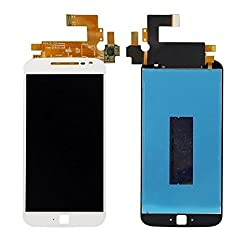 LCD Display + Touch Screen Digitizer Assembly Compatible With Motorola MOTO G4 Plus - White Color