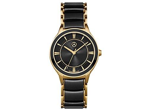 Reloj De Pulsera Mujer, Business in Style Mark 2Dorado/Negro, Acero inoxidable/cerámica