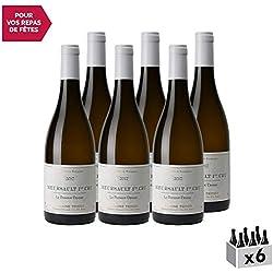 Meursault 1er Cru Le Porusot Blanc 2017 - Domaine Tessier - Vin AOC Blanc de Bourgogne - Cépage Chardonnay - Lot de 6x75cl