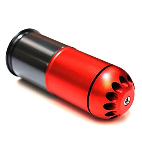 Airsoft Shooting Gear SHS 120rd 40mm Grenade Gas Cartridge Shell Red/Grey